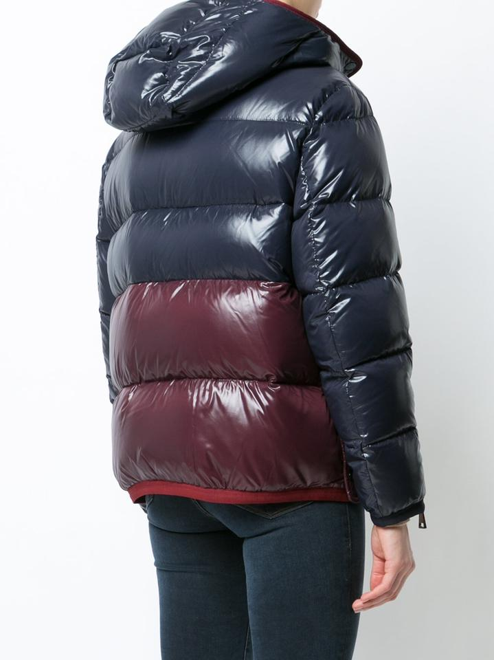 19cda9dc163 Moncler Cotinus Quilted Down Peacoat Colorblocked Coat Image 11.  123456789101112
