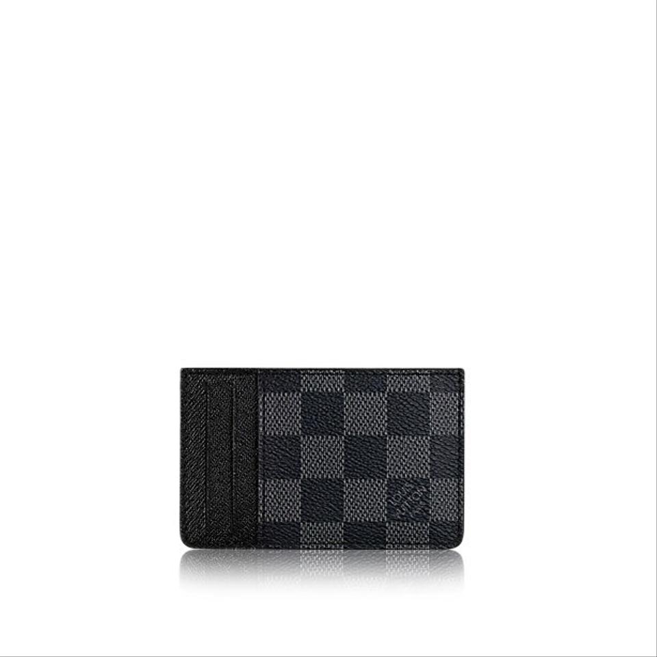 Louis Vuitton Damier Ebene Graphite Canvas Neo New 2018 Card Holder ...