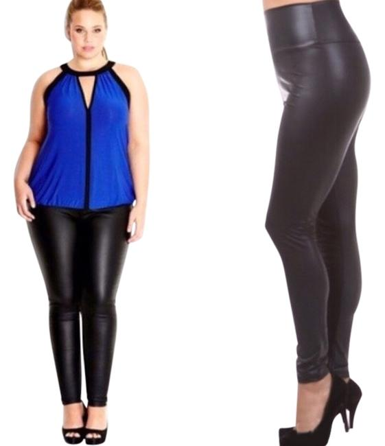 Preload https://item3.tradesy.com/images/matte-black-heather-faux-leather-leggings-size-26-plus-3x-2293687-0-0.jpg?width=400&height=650