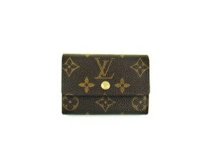 Louis Vuitton Porte-Monnaie Plat Monogram Coin Change Purse Wallet