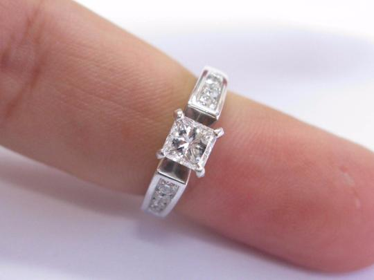 Robin Brothers Robin Brothers Princess & Round Cut Diamond White Gold Engagement Ring Image 4