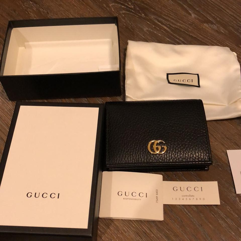 162ddbc43c3 Gucci Black Gg Leather Wallet - Tradesy