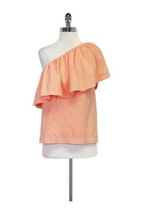 Trina Turk Hot Mambo Striped Top Orange