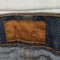 James Jeans Bootleg Denim Distressed Flare Dark Rinse Boot Cut Jeans-Medium Wash Image 3