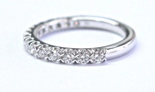 Blue Nile Blue Nile 18Kt Round Cut Diamond White Gold Stackable Band Ring .50Ct Image 1