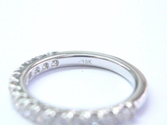 Blue Nile Blue Nile 18Kt Round Cut Diamond White Gold Stackable Band Ring .50Ct Image 2
