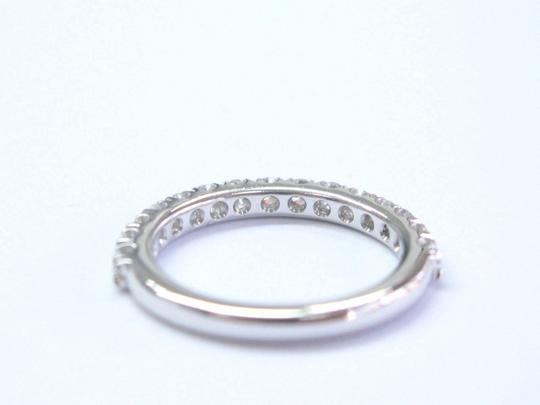 Blue Nile Blue Nile 18Kt Round Cut Diamond White Gold Stackable Band Ring .50Ct Image 3