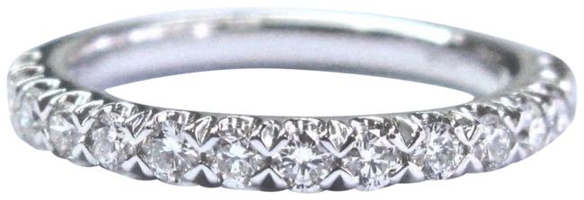Item - White Gold 18kt Round Cut Diamond Stackable Band .50ct Ring