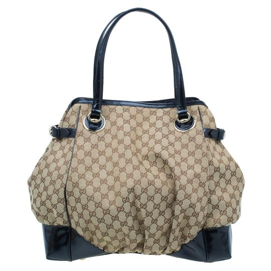 Gucci Full Moon Gg Canvas Tote in beige Image 2