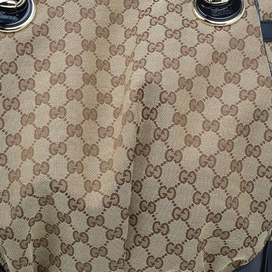 Gucci Full Moon Gg Canvas Tote in beige Image 5