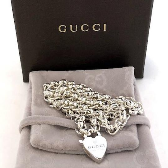 Gucci Sterling Silver Heart Padlock Necklace Image 3