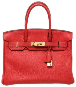 Hermès Satchel in Rouge Pivoine