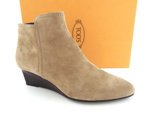 Tod's Gomma Beige Boots