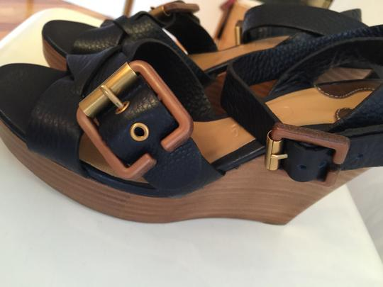 Chloé Navy Wedges