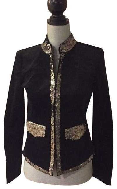 Preload https://img-static.tradesy.com/item/22937588/michael-michael-kors-black-velvet-jacket-w-accented-gold-sequins-night-out-top-size-2-xs-0-3-650-650.jpg