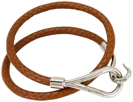 Preload https://img-static.tradesy.com/item/22937680/hermes-brown-x-silver-double-wrap-jumbo-hook-226026-bracelet-0-1-540-540.jpg