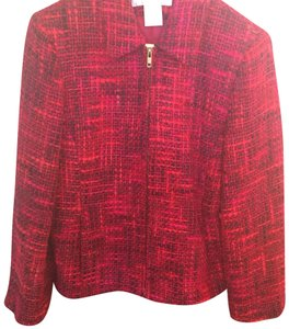 Jones New York Vintage Kennedy Mad Men Red, burgundy and pink Jacket