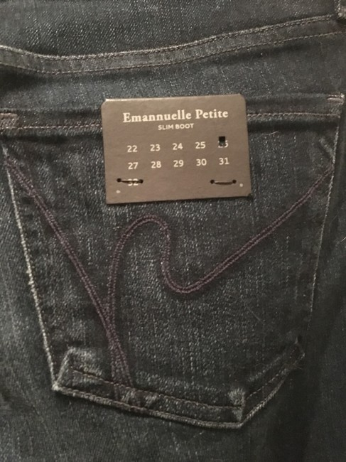 Citizens of Humanity Logo Boot Cut Jeans-Dark Rinse Image 2