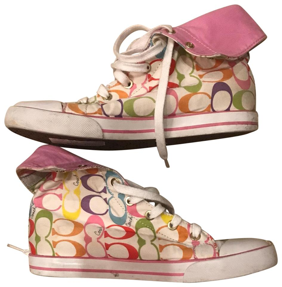b02eeb30d949d1 Coach Multicolor Rainbow High Top Sneakers Size US 8 Regular (M