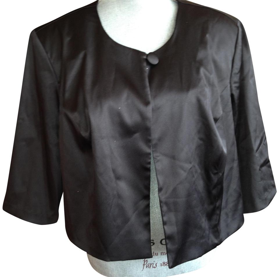 be7189486a39d Robbie Bee Black Ladies Women's Cropped Jacket Size 22 (Plus 2x ...