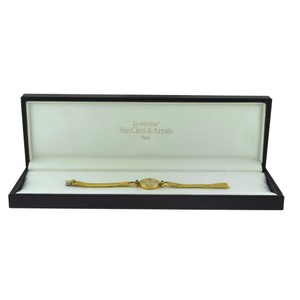Van Cleef & Arpels Vintage Van Cleef & Arpels Gold Diamond Watch with Sapphire