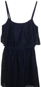 bailey blue short dress Navy Crochet Lace Lined Spaghett Straps on Tradesy