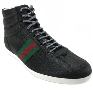 cute cheap save up to 80% top brands Gucci Black 429598 Men's Glitter Web High Top G12/Us13 Sneakers Size US 13  Regular (M, B) 29% off retail