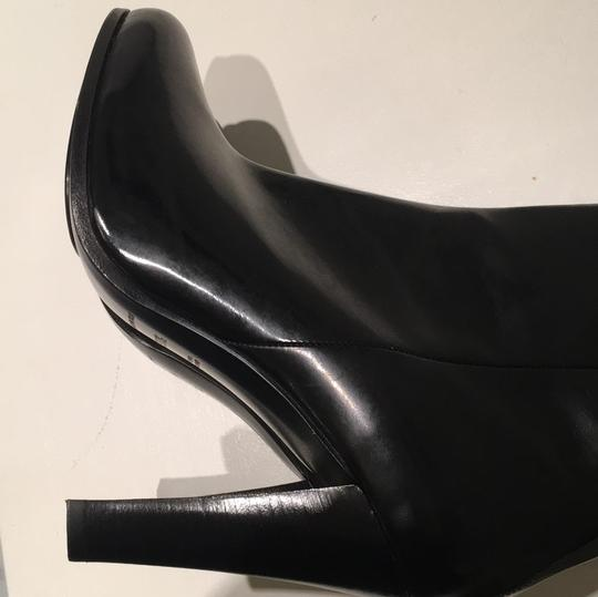CoSTUME NATIONAL Patent Leather Gloss Black Boots