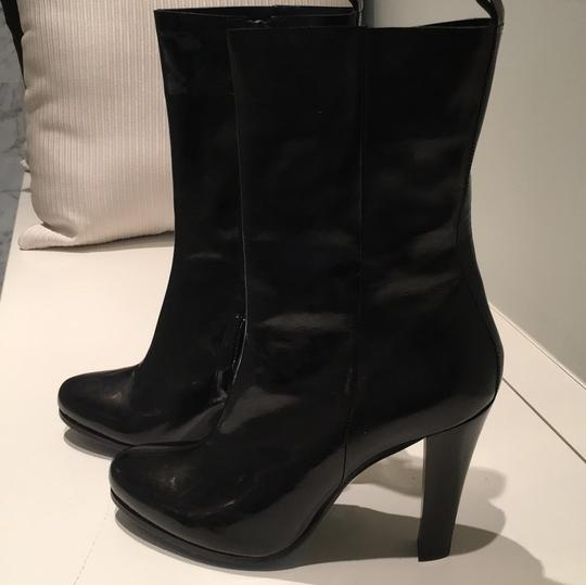 CoSTUME NATIONAL Patent Leather Gloss Black Boots Image 7