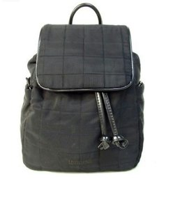 Moschino Silver Hardware Quilted Vintage Nylon Patent Leather Backpack