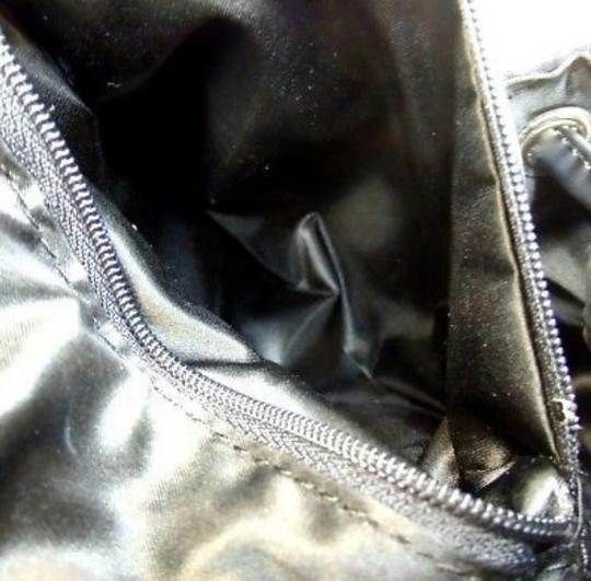 Moschino Silver Hardware Quilted Vintage Nylon Patent Leather Backpack Image 4