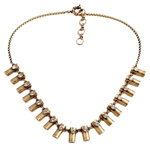 Private Collection Brass Metal Statement Necklace