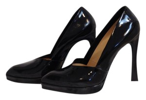 CoSTUME NATIONAL Gabby Patent Leather Black Pumps