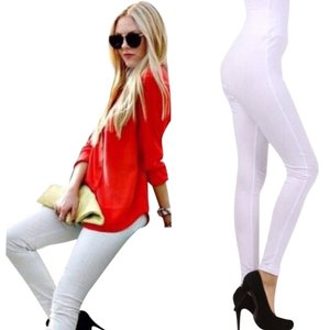 Chic Fashion White Leggings