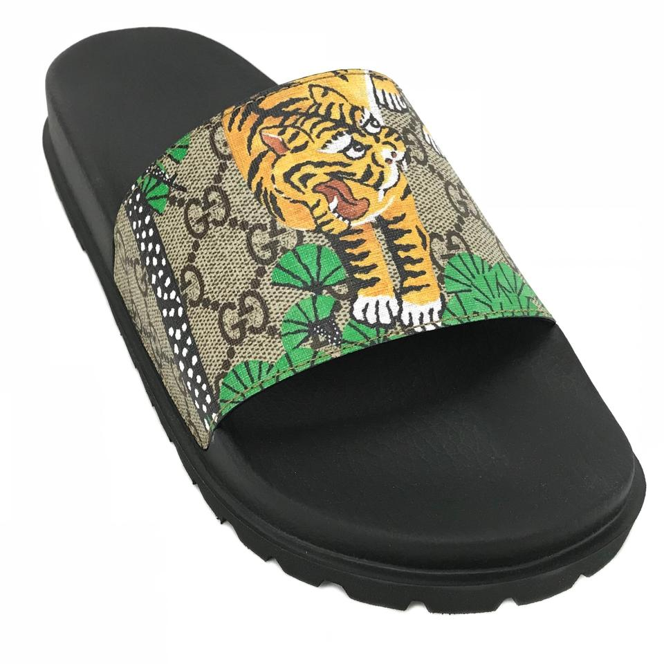 06988656d Gucci Multicolor 450895 Men's Gg Supreme Bengal Slide G7/Us7.5 ...