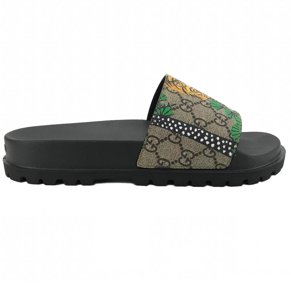 b9a697f66 Gucci Multicolor 450895 Men's Gg Supreme Bengal Slide G7/Us7.5 Sandals Size US  7.5 Regular (M, B) - Tradesy