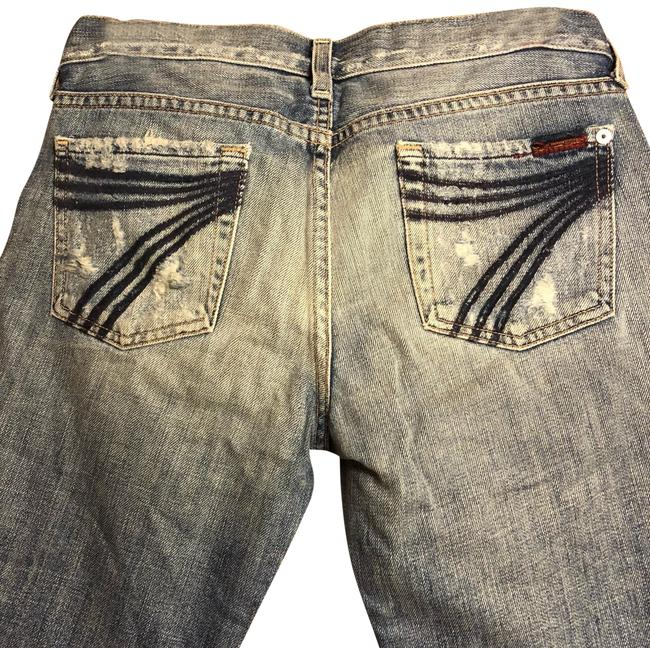 7 For All Mankind Denim Shorts-Distressed Image 0