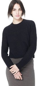 James Perse Cropped Boucle Merino Wool Knit Sweater