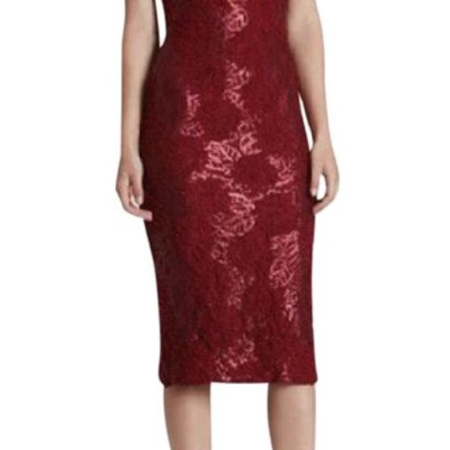 Dress the Population Lace Midi Sequin Dress Image 2