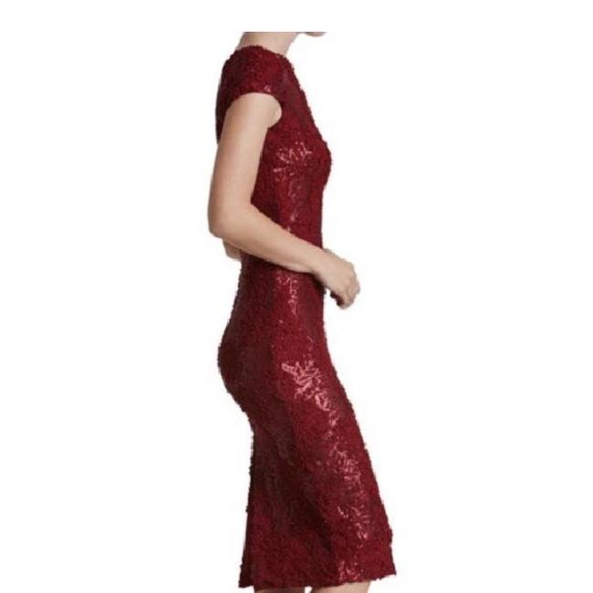 Dress the Population Lace Midi Sequin Dress Image 3