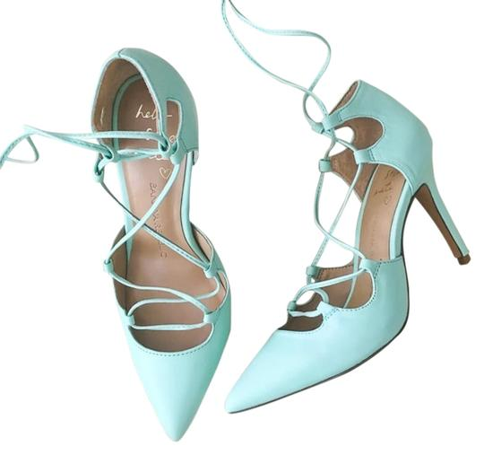 Banana Republic Lace Up Spring Summer Mint Green Pumps Image 0