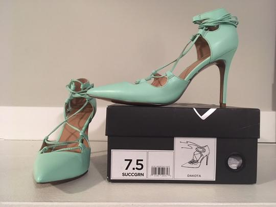 Banana Republic Lace Up Spring Summer Mint Green Pumps Image 2