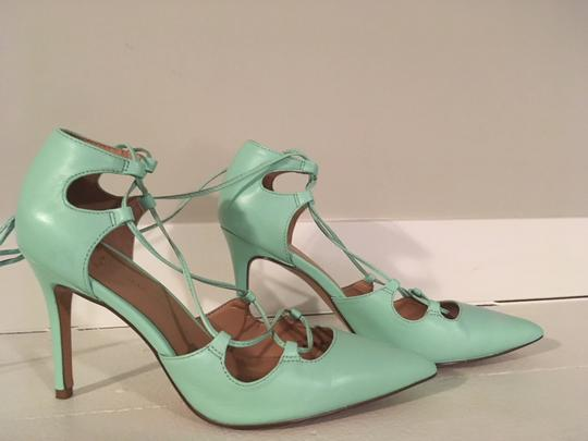 Banana Republic Lace Up Spring Summer Mint Green Pumps Image 4