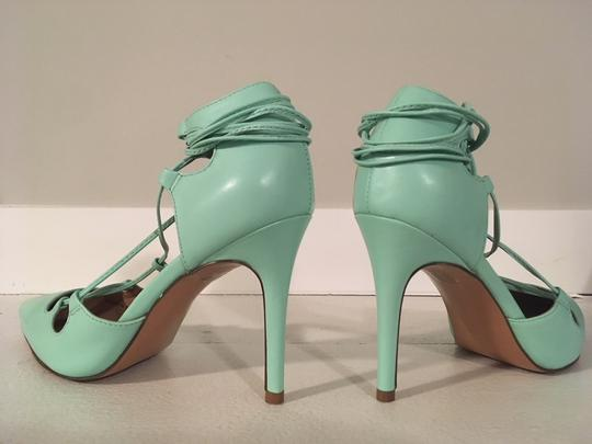 Banana Republic Lace Up Spring Summer Mint Green Pumps Image 5