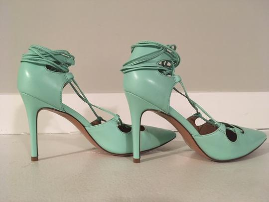 Banana Republic Lace Up Spring Summer Mint Green Pumps Image 6