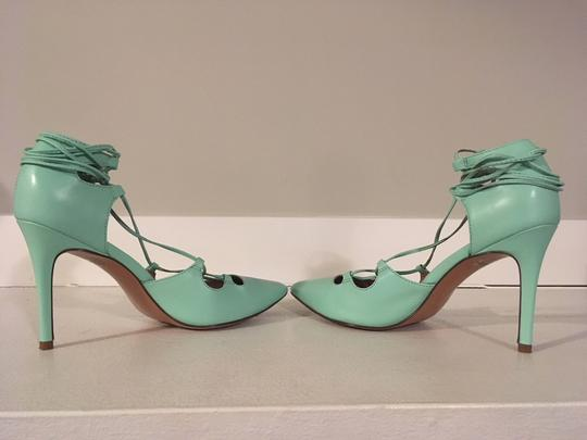 Banana Republic Lace Up Spring Summer Mint Green Pumps Image 7