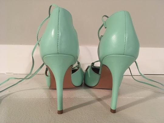 Banana Republic Lace Up Spring Summer Mint Green Pumps Image 8