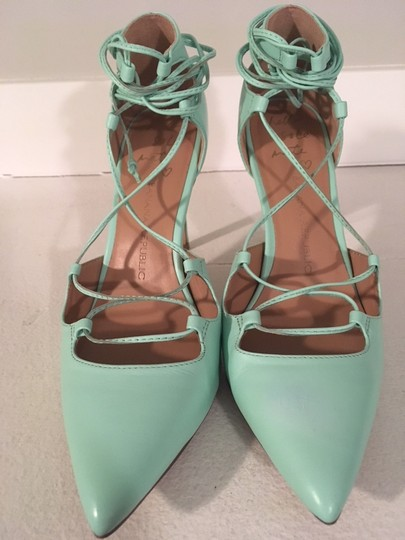 Banana Republic Lace Up Spring Summer Mint Green Pumps Image 9