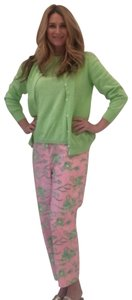 Lilly Pulitzer Capris Pink and Green