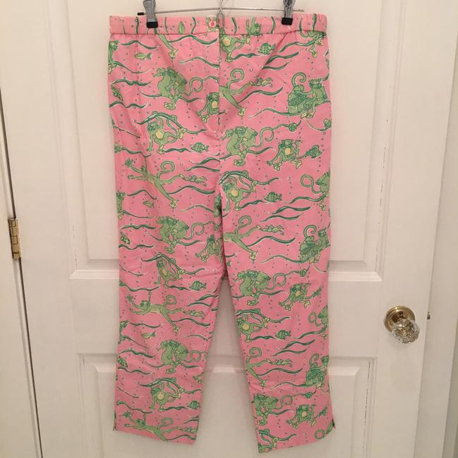 Lilly Pulitzer Capris Pink and Green Image 1